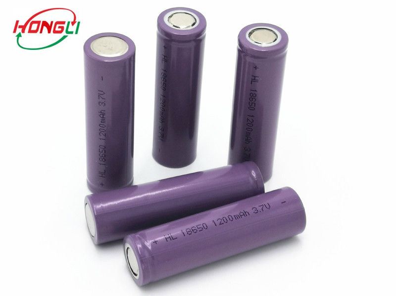 1200mAh 0.5C 18650 Lithium Ion Battery  High Energy Density  Fast Charging