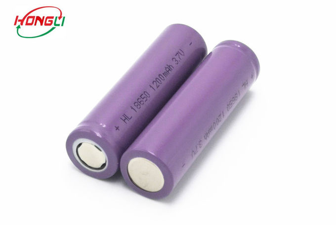 18650 cellules cylindrique d'ion de lithium, 18650 batterie rechargeable 1200mAh 3.7V